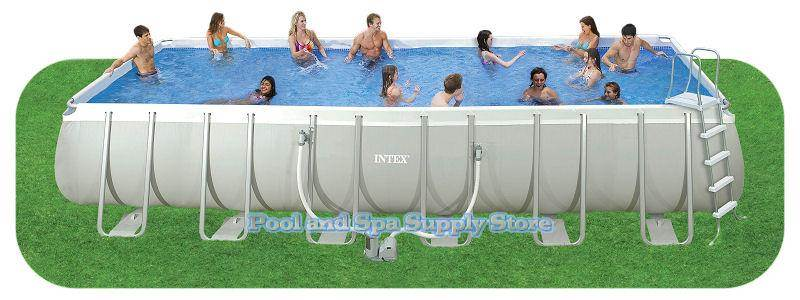 intex rectangular ultra frame pool package model 28365eh
