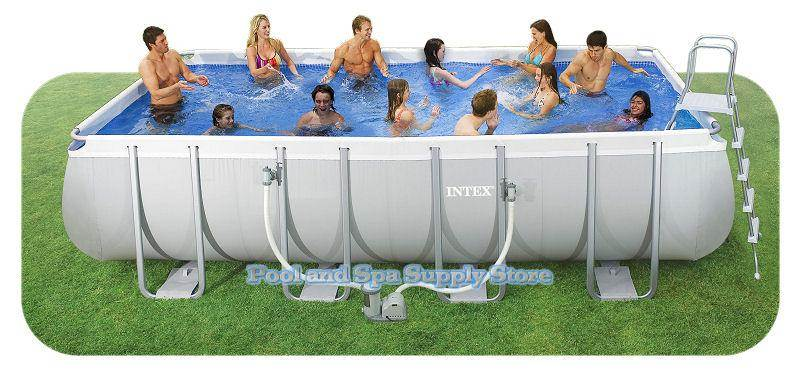 Intex 18 39 x 9 39 x 52 ultra frame pool package model 28351eh pool and spa supply store for Intex 18 x 9 x 52 ultra frame swimming pool
