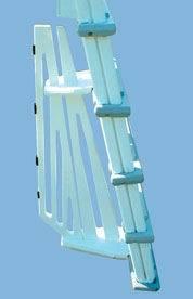Above Ground Deck To Pool Adjustable Ladder Confer 6100 Ebay