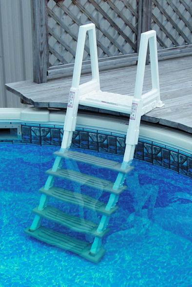 above ground deck to pool ladder confer plastics 6000
