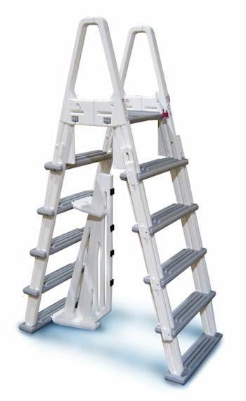 A Frame Above Ground Pool Adjustable Ladder Confer