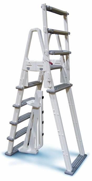 A frame above ground pool adjustable ladder confer for A frame pools and spas