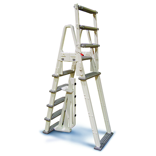 A frame above ground pool adjustable ladder confer 7000 ebay for Pool ladder