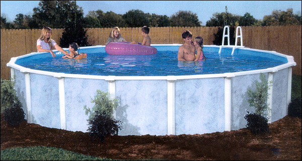 Lomart Sierra Pines Round Above Ground Pool Package 52